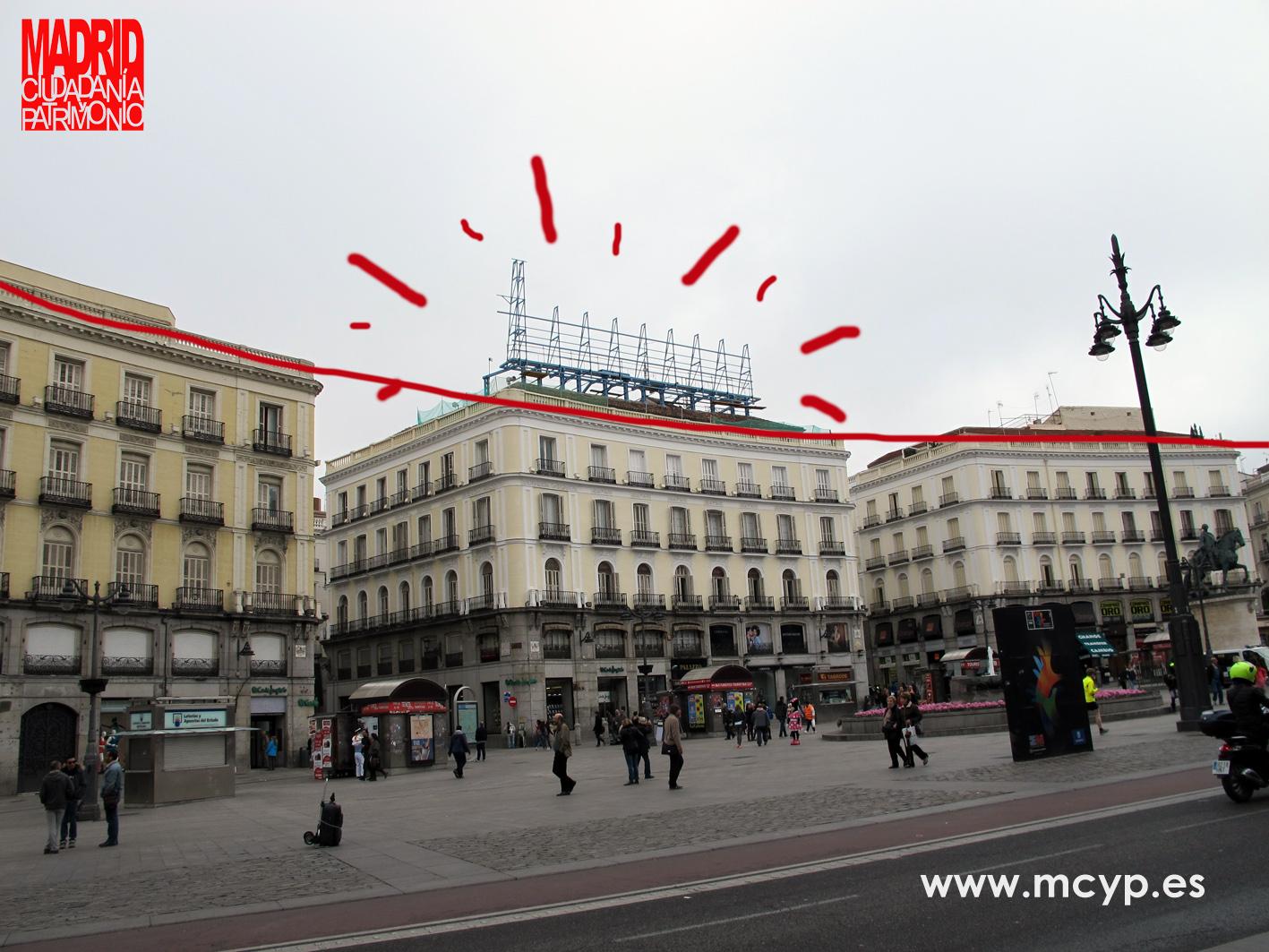 Mcyp se queja por el mal efecto de la nueva instalaci n for Puerta del sol hoy