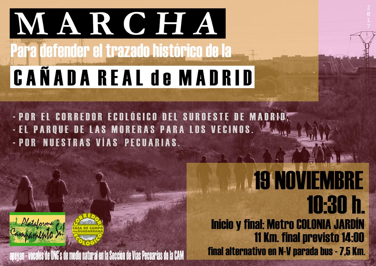 Marcha para defender el trazado de la Cañada Real de ...